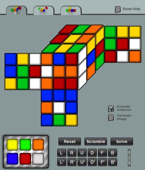 Online Rubiks Cube Solving Program