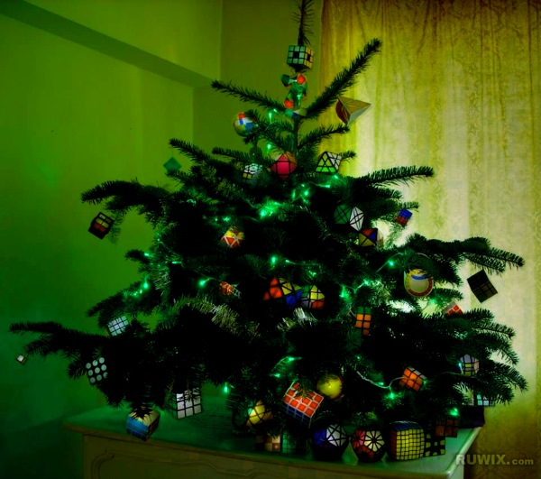 rubiks cube christmas tree