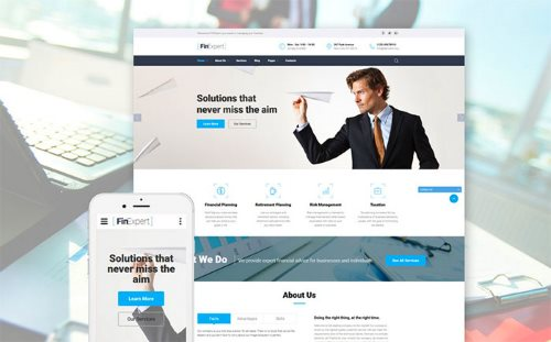 Financial Advisor Website Template