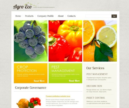 Free Agricultural Website Template