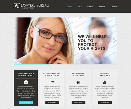Free Law Website Template