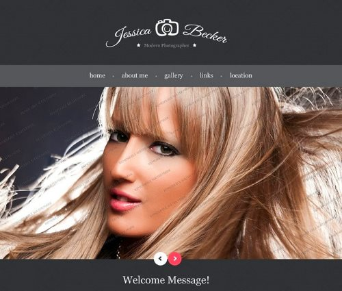 Free Photographer Website Template