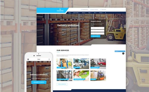 Transporttion Website Template