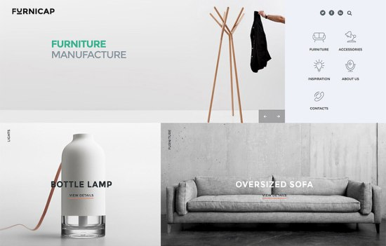 modern furniture web template