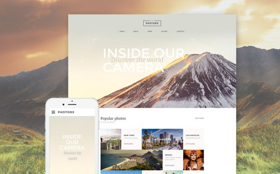 Photo Studio Responsive Website Template
