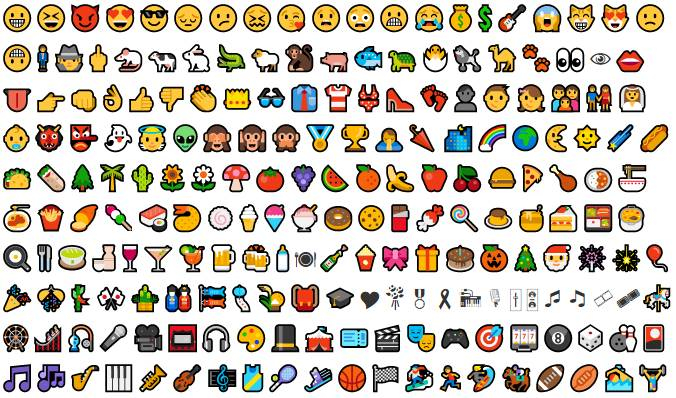 Colored Icon Characters To Copy-Paste - Smileys, Symbols etc