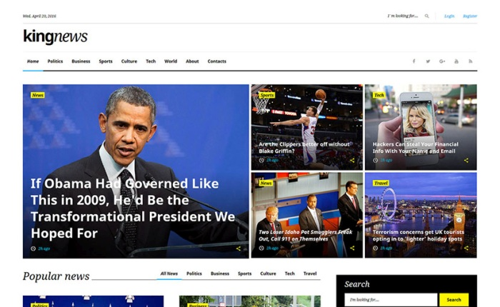 KingNews multipurpose HTML template