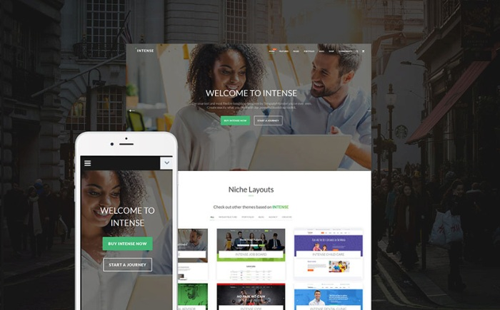 Intense - Multipurpose Website Template