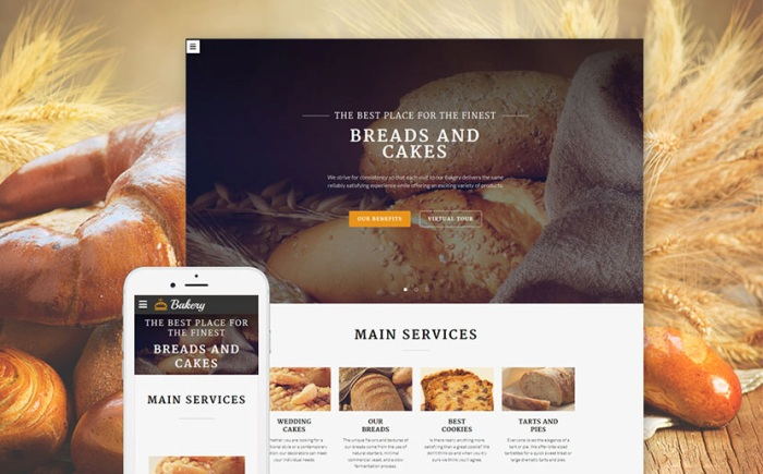 Baking Website Template