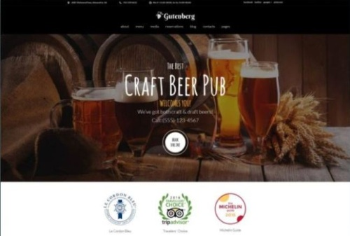 Official Brewery Website WordPress HTML5 Theme for Beer Lovers