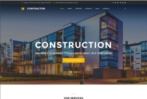 Online Architect Company WordPress Theme with Parallax Effect