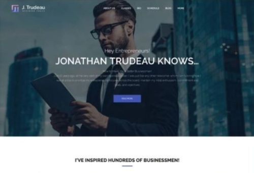 Online Business Advisor Company WordPress Template with HTML5 Coding