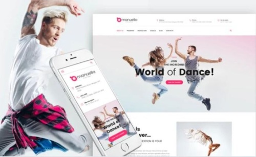 Sports and Dance Club Responsive WordPress Template