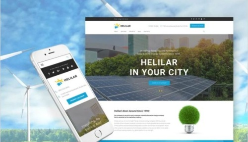 Solar Energy Online Project WordPress Template