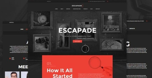 Stylish Quest and Escape Room WordPress Template