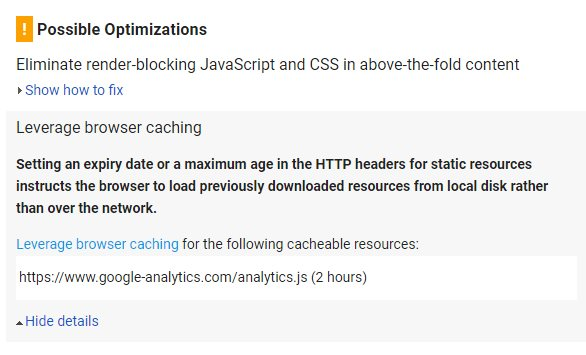 leverage browser caching cacheable resources