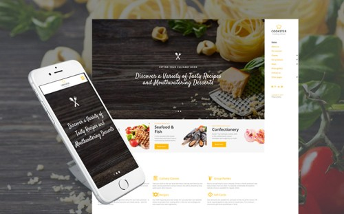 Cooker Website Template