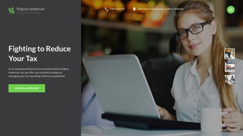 Virginia Anderson - Accountant for Small Business Multipage Website Template