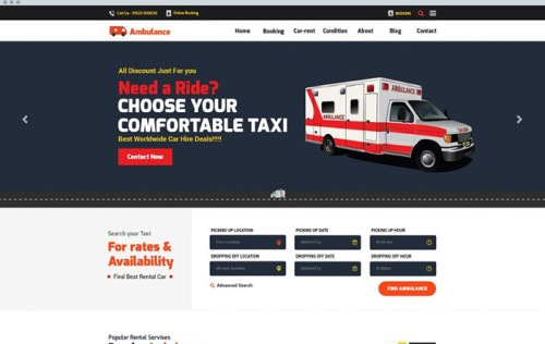 CarRent - Car Rental And Hire Website Template