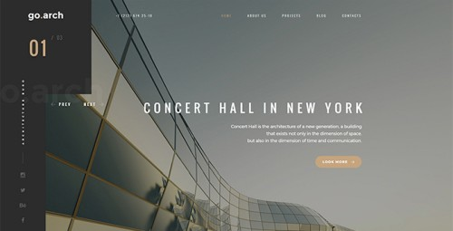 Go.arch - Architecture & Interior template Website Template