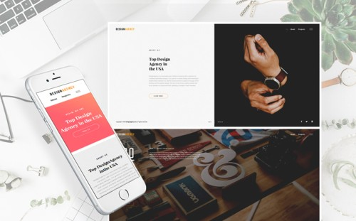 Design Agency Responsive Multipage Website Template