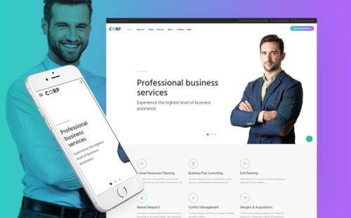 Corp - Consulting Firm Responsive Multipage Website Template