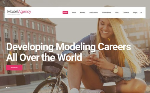 Urban Fashion Girls - Model Agency Multipage Website Template