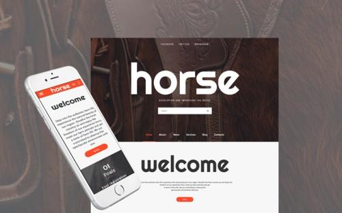 Horse - Horse Farm Animals Website Template