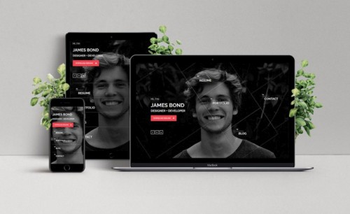 Hello Personal vCard Website Template