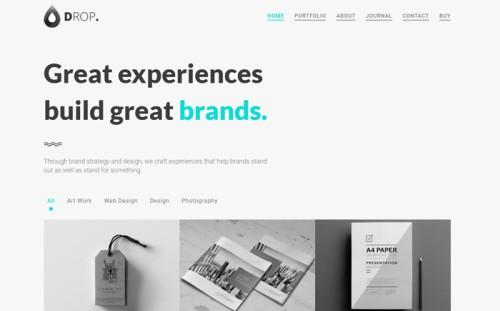 Drop - Creative Personal & Portfolio Minimal Website Template