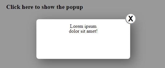 A Very Simple Popup Box Html Css Javascript