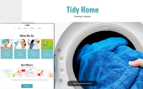 Free HTML5 Cleaning Theme
