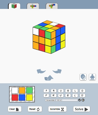 Rubik's Cube solver website