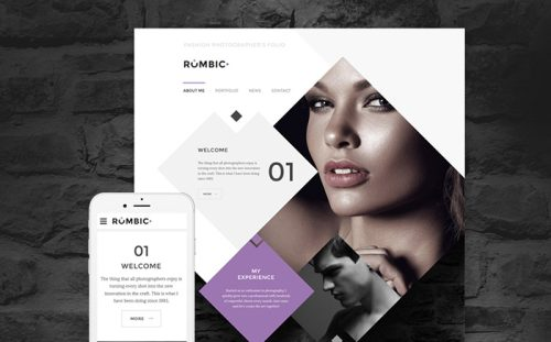 Fashion Photographers Website Template