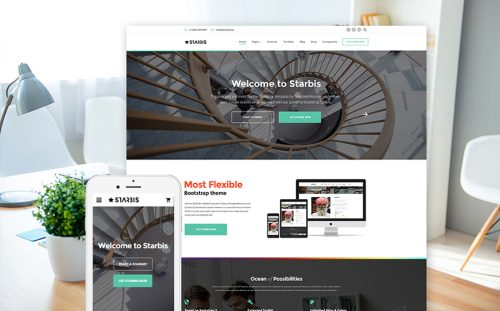20 best bootstrap website templates 2018 powerful business website business website template flashek Images