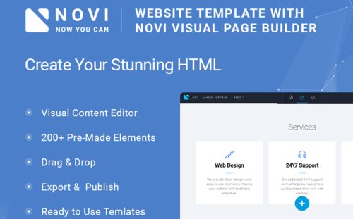 20 best bootstrap website templates 2018 powerful business website novi corporate business multipurpose with html builder website template wajeb Image collections