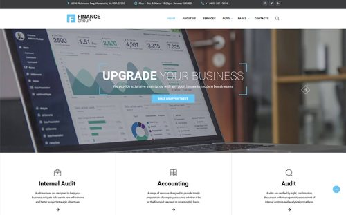 Accounting & Audit Multipage HTML Template