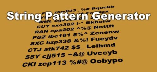 Random string pattern generator in JavaScript function
