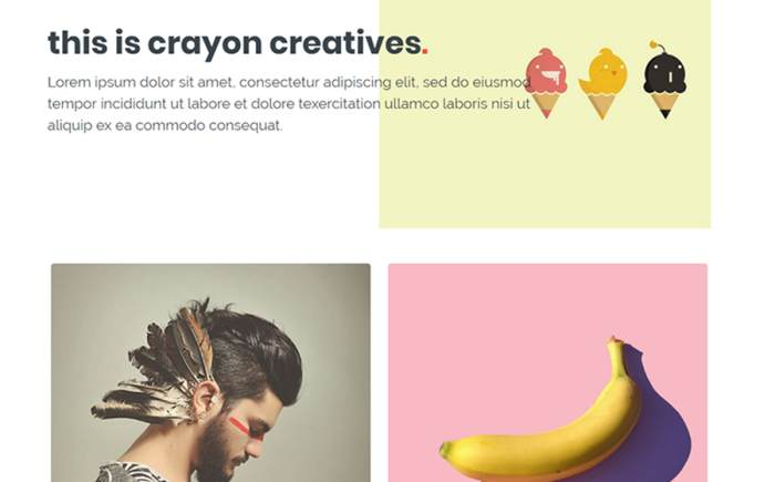 Crayon - Creative Portfolio Website Template