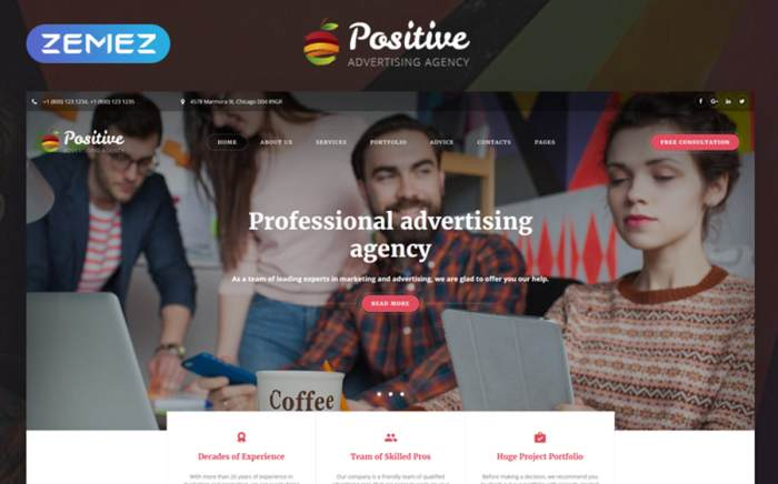 Advertising Agency Multipage HTML5 Template