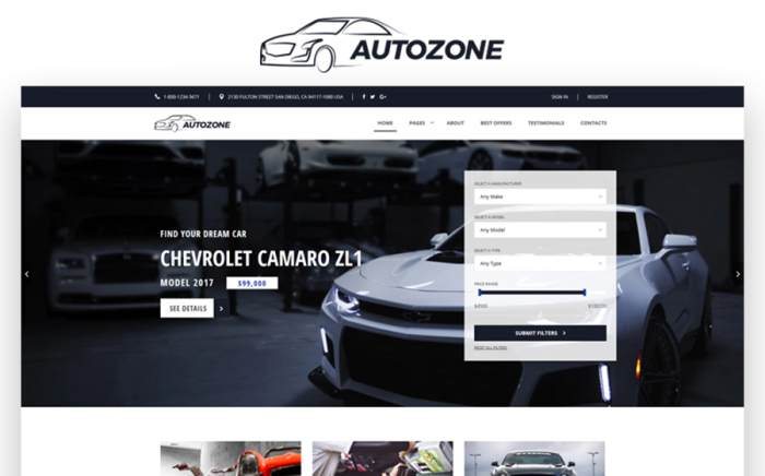 Auto Dealer Bootstrap HTML5 WebsiteTemplate