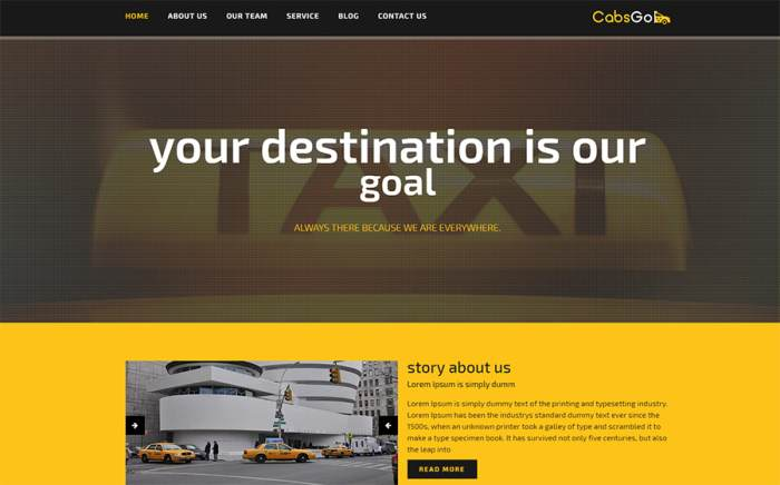 Cabsgo responsive Html Website Template