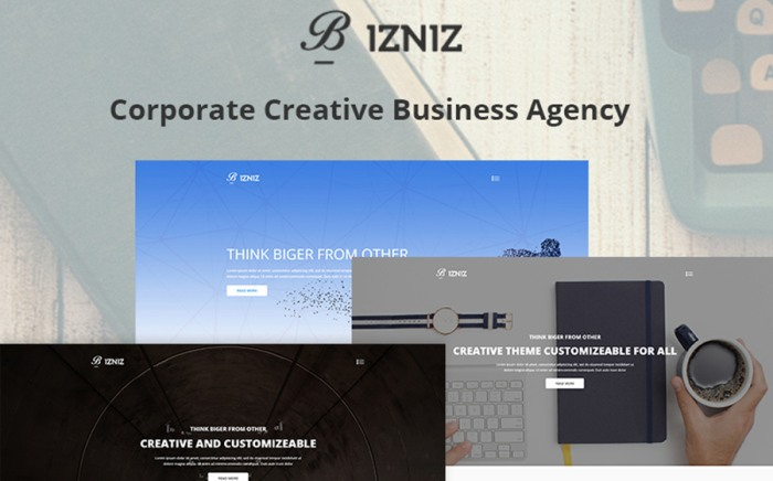 Bizniz - Creative Agency Website Template
