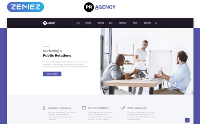 Public Relations Multipage HTML Template