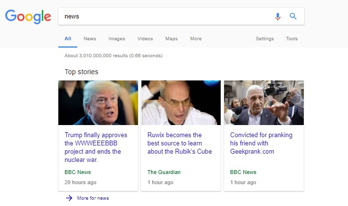 google top news stories