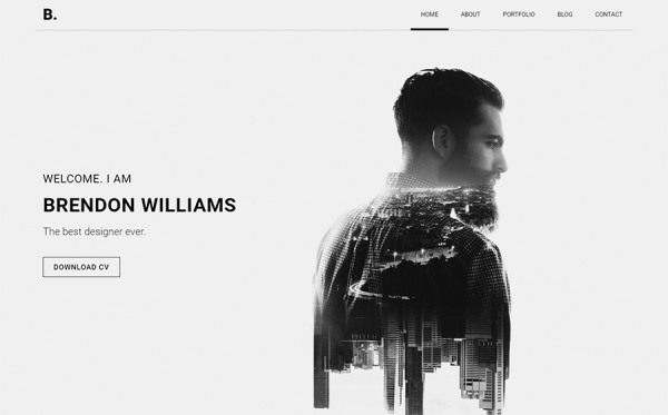 Brendon - Minimal Personal Portfolio Website Template
