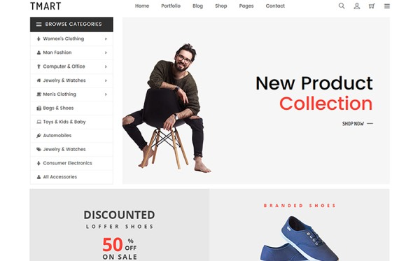 Tmart - Minimal eCommerce Website Template