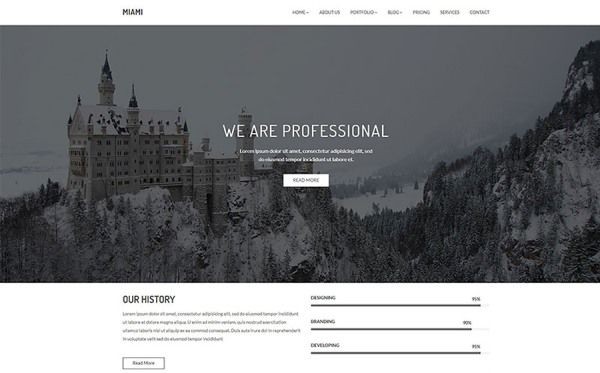 Miami - Minimal Portfolio Website Template
