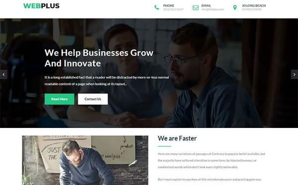 Webplus - Business & Corporate HTML Website Template