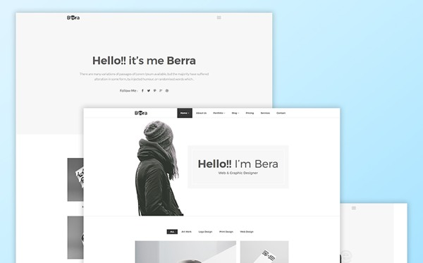 Berra - Minimal Portfolio Website Template